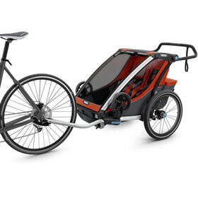 Thule Chariot Cross 2 Remorque vélo, roarange/dark shadow